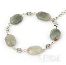 gray gem bracelet with lobster clasp