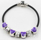 Fashion Style Purple Color Heart Shape Accessories Charm Bracelet
