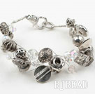 Imitation Silver and Crystal Bracelet with Lobster Clasp under $ 40