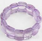 Big Style Concave Shape Purple Jade Stretch Bangle Bracelet under $ 40