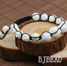 Fashion Style Carved White Sea Shell Drawstring Bracelet