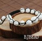 Fashion Style Carved White Sea Shell Drawstring Bracelet