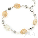 simple and fashion citrine bracelet with lobster clasp