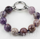 Faceted 14mm Amethyst Beaded Bracelet under $ 40