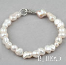 Simple Design Cucurbit Shape White Freshwater Pearl Bracelet