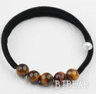 Simple Design Round Tiger Eye Bangle Bracelet