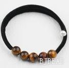 Simple Design Round Tiger Eye Bangle Bracelet under $ 40