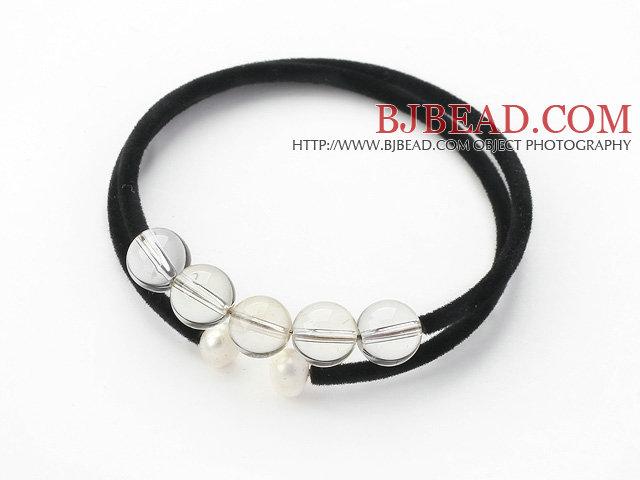 Simple Design Round Clear Crystal Bangle Bracelet