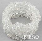 Long Style Clear Crystal Wrap Bangle Bracelet