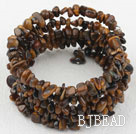Long Style Tiger Eye Chips Wrap Bangle Bracelet