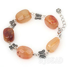 natual agate tibet silver bracelet with extendable chain