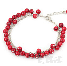 6m round red alaqueca bracelet with extendable chain