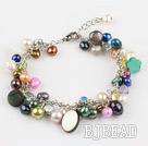 colorful pearl shell bracelet with extendable chain