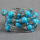 fashion blue turquoise bangle bracelet