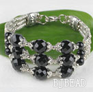 fashion black agate banlge with lobster clasp