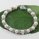 8-9mm natural pearl bracelet