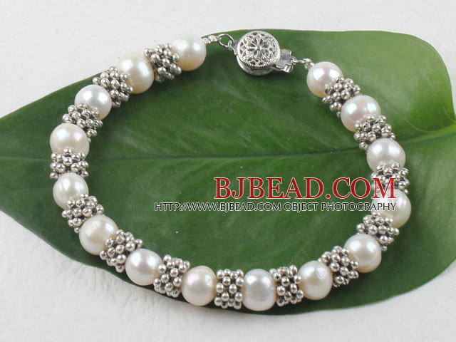 8-9mm natural pearl bracelet