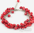 red coral bracelet with extendable chain under $ 40