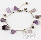 natural amethyst bracelet with extendable chain