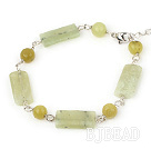 lemon jade bracelet with lobster clasp