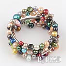 multi color dyed pearl bangle