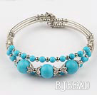 7.3 inches beautiful turquoise bangle under $5