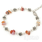 natural agate bracelet with extendable chain