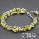 lemon stone chips bracelet with extendable chain