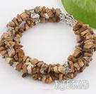 7 inches 3 strand pictuer jasper bracelet