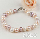 7-8mm cultured natural fresh water pearl beaded bracelet