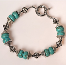 7 inches 40mm turquoise bracelet with moonlight clasp