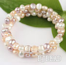 6-7mm popular 3 strand natural fresh water pearl