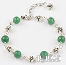 aventurine beaded bracelet with extendable chain