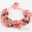 black pearl cherry quartze bracelet