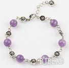 8mm amethyst bracelet with extendable chain