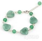 aventurine bracelet with extendable chain