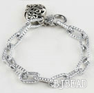 fashion metal chain bracelet with heart charm under $ 40