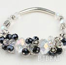 manmade crystal stretch bracelet