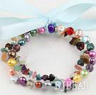pearl multi-stone bracelet
