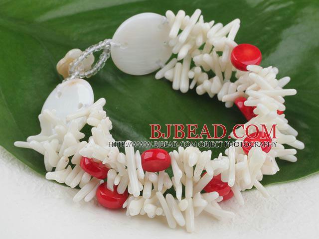 white coral bracelet