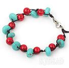 blue turquoise red alaqueca bracelet
