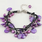 purple pearl shell bracelet
