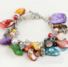 hot multi color pearl shell bracelet