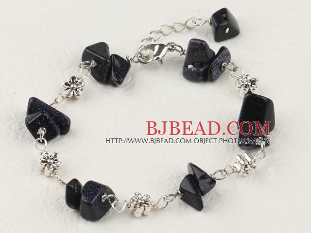 purple goldstone chips bracelet