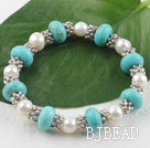 pearl turquoise bracelet