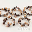 5PCS acrylic manmade pearl bangle