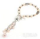 fashion natural pink pearl bracelet with toggle clasp under $5