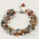 7 inches rutilated quartz bracelet with extendable chain