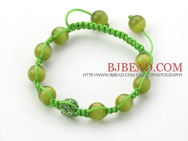 elastic pearl crystal bracelet