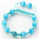 cute turquoise and shell bracelet with extendable chain